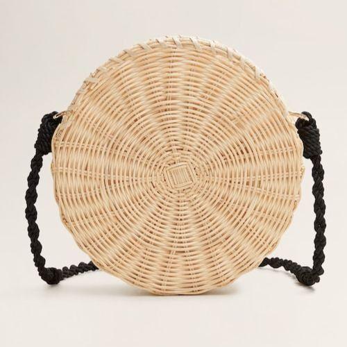 Bolso redondo de bambú