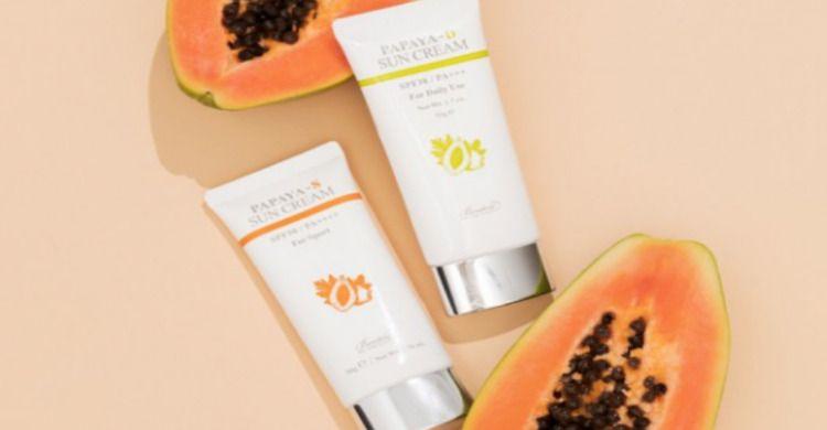 Las nuevas cremas solares de Benton_ papaya para cuidar la piel