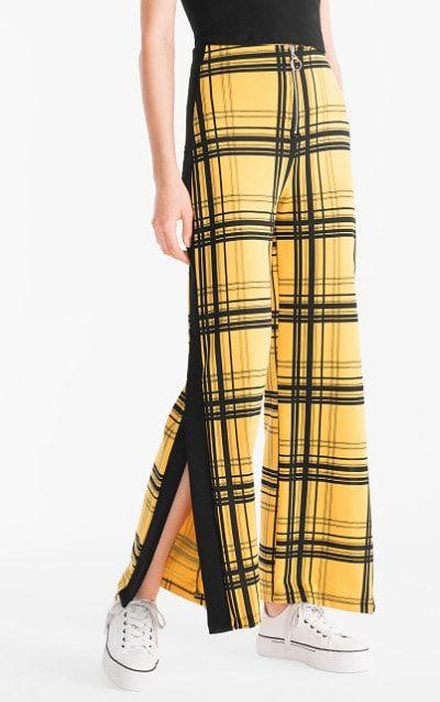 Pantalones con estampado de cuadros
