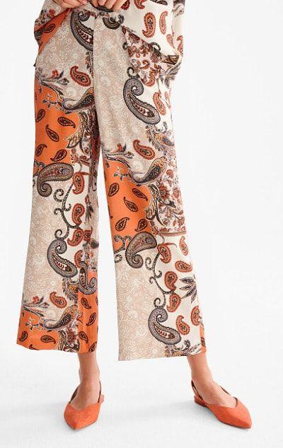 Pantalones retro con estampado paisley