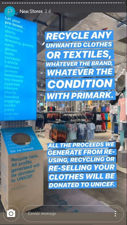 Reciclaje de ropa Primark