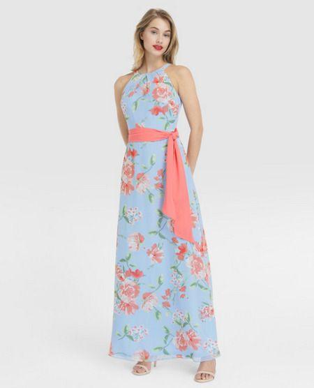 Vestido largo con print floral