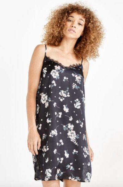 Camisón lencero con print floral