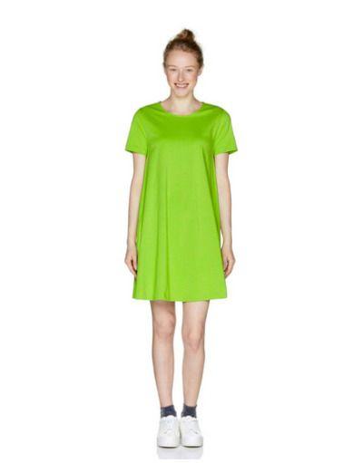 Vestido corto verde lima Benetton