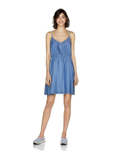 Vestido azul print floral Benetton