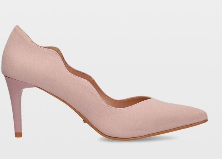 Zapatos de tacón rosa cuarzo