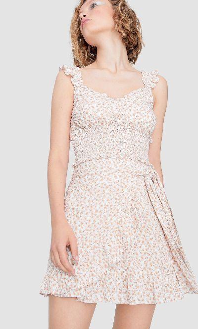 Falda con print floral