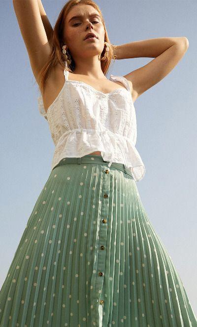 Falda estampado de lunares