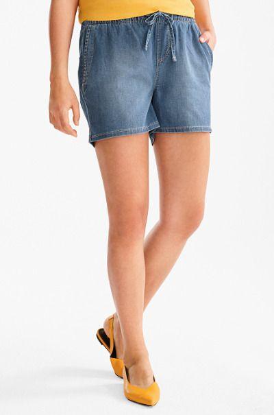 Shorts vaqueros con lazo de C&A