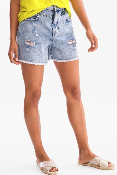 Shorts vaqueros con rotos de C&A