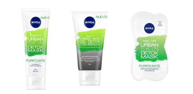 Urban Sky Nivea: gel y mascarilla detox para purificar la piel