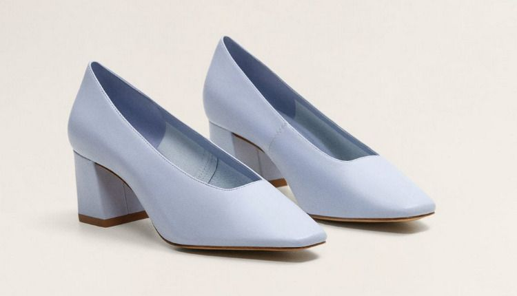Zapatos de punta cuadrada