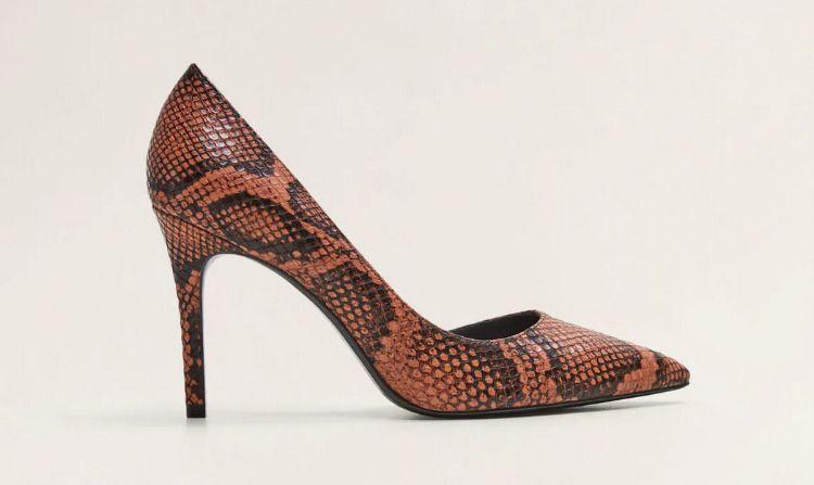 Zapatos de tacón con print animal