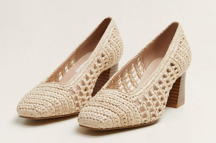 Zapatos de tacón trenzado
