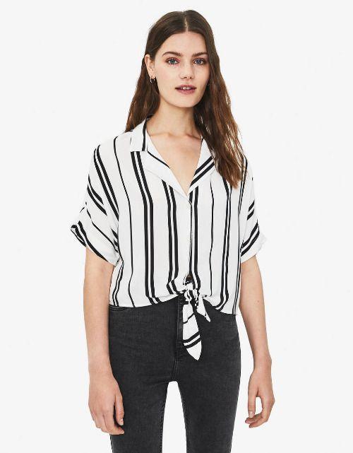 Camisa oversize con estampado de rayas de Bershka