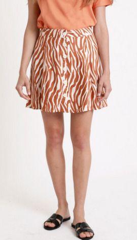 Falda con estampado animal marfil de Pimkie
