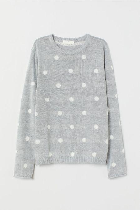 Jersey de punto fino con estampado lunares de H&M