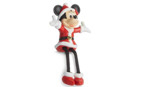 Adorno navideño de Minnie Mouse vestida de Mamá Noel
