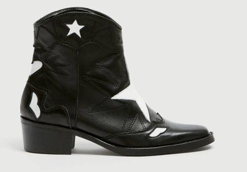 Botines cowboy con estrella de Pull and Bear