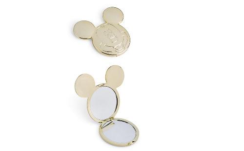 Espejo de bolsillo de Mickey Mouse dorado