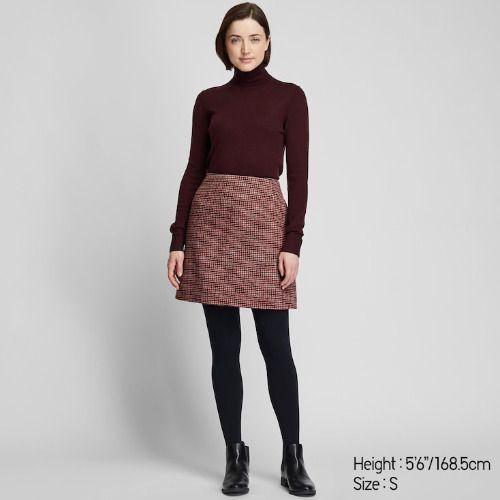 Falda de lana de cuadros de Uniqlo
