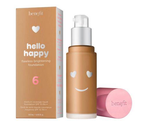 Hello Happy Base de Maquillaje Iluminadora y Perfeccionadora