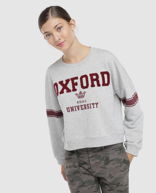 Sudadera corta Oxford University de Green Coast