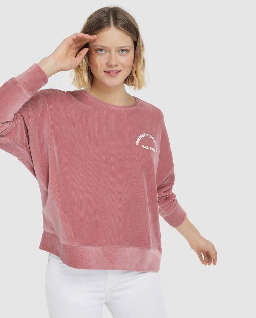 Sudadera rosa con mensaje de Green Coast