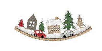 Escenario navideño balancín