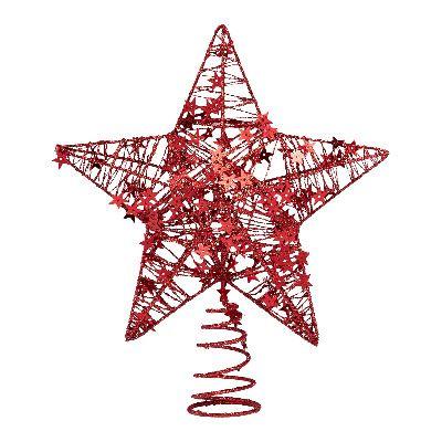 Estrella roja brillante para el Árbol de Navidad