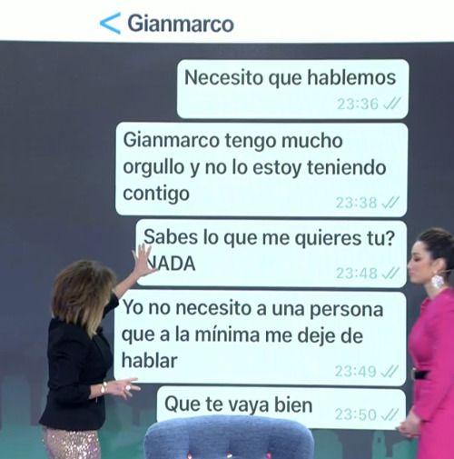La conversación de WhatsApp entre Adara y Gianmarco(1)