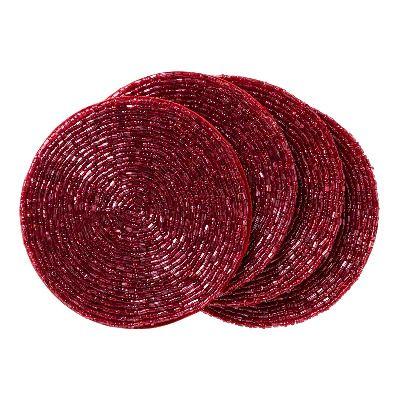 Posavasos rojos de Navidad