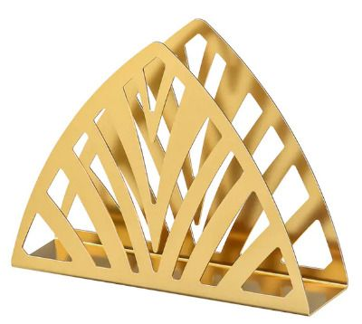 Servilletero dorado de Ikea