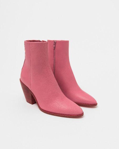 Botines cowboy de piel en color rosa de Bimba y Lola