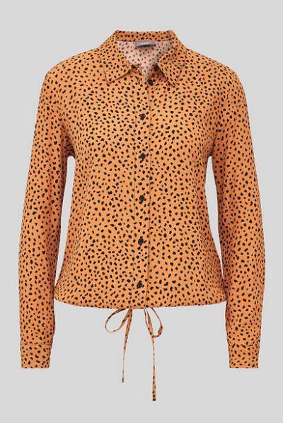 Camisa naranja con estampado animal de CA