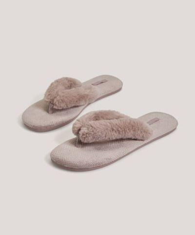 Sandalias con tiras de pelo de Oysho