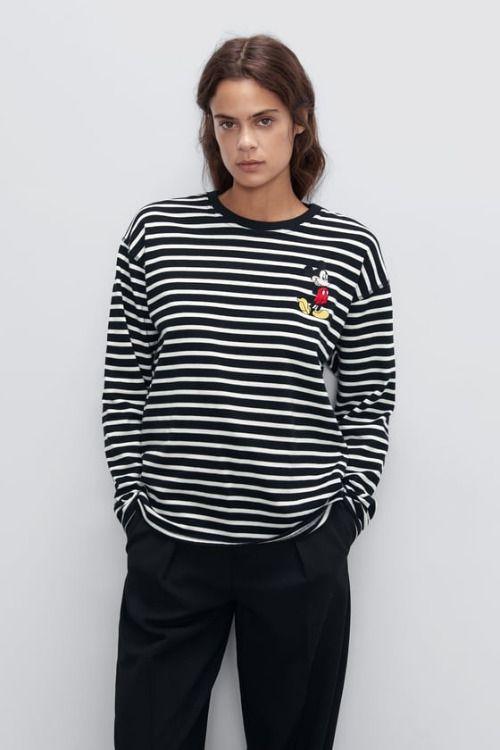 Sudadera de rayas de Mickey Mouse de Zara