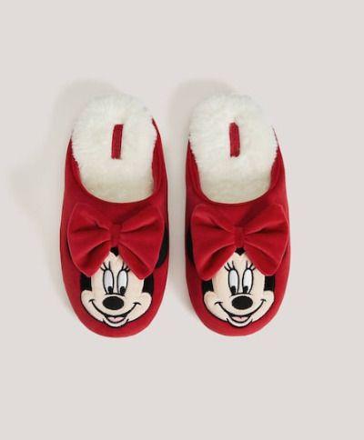 Zapatillas de Minnie con borreguito de Oysho