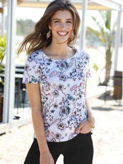 Camiseta de manga corta con estampado floral