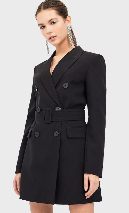 Vestido estilo blazer con cinturón de Stradivarius