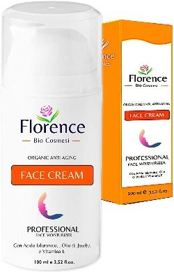 Crema hidratante facial con ácido hialurónico puro - Florence Bio Comesi