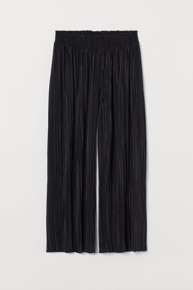 Pantalón culotte plisado de H&M