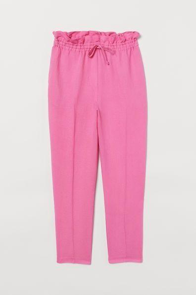Pantalón tobillero con frunce a la cintura de H&M