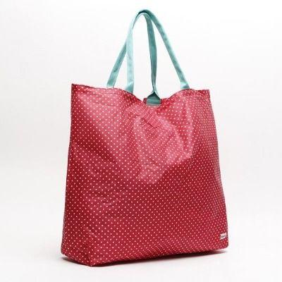Bolso grande de plástico con estampado de lunares de Misako