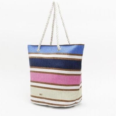 Bolso grande de playa con estampado de rayas de Misako