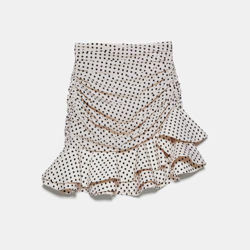 Falda mini de Zara - Lunares