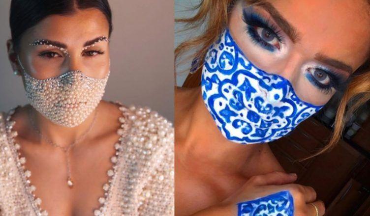 Maquillar la mascarilla, la moda más absurda de Instagram