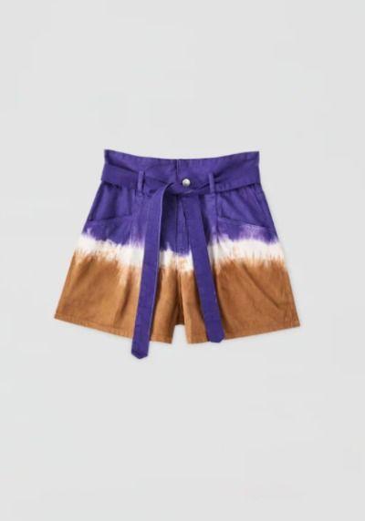 Pantalones cortos con estampado tie dye
