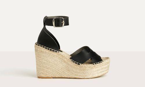 Sandalias de yute con pulsera al tobillo de Bershka