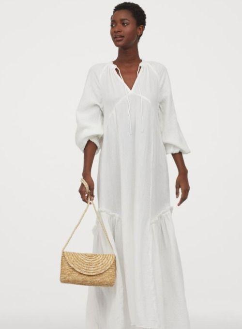 Vestido de caftán en color crema